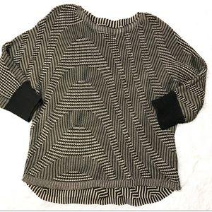 Dana Buchman geometric print knit sweater size XL